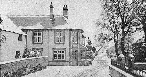 snow scene of Ruishton Inn