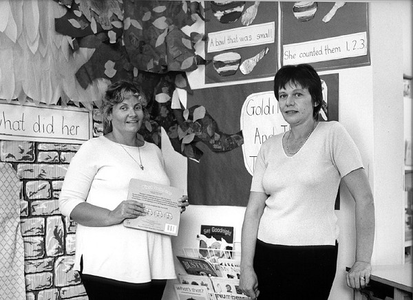 SANDRA EVANS & TRACEY ROBERTSON, Bushy Cross Day Nursery, Opened by owner and manager Sandra Evans (right) in 1991, the nursery is now registered for 36 children. Tracey Robertson has been Deputy Manager since 1995.