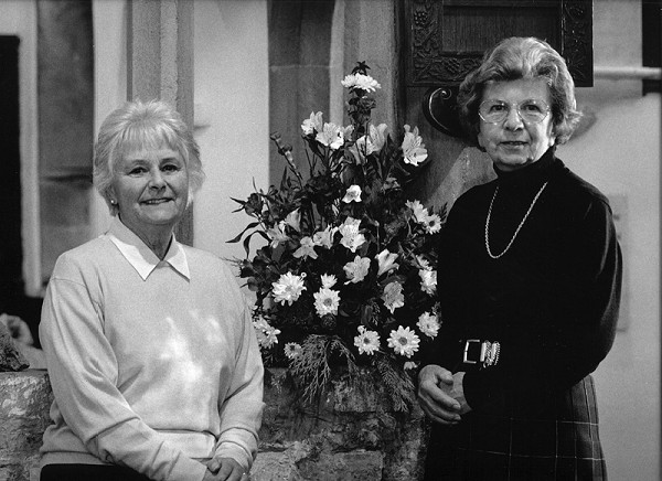 AUDREY CALLEN & JOY CLASBY, Church Flower Arrangers, Audrey (left) and Joy have shared the responsibility for arranging the Church flowers for over 25 years.