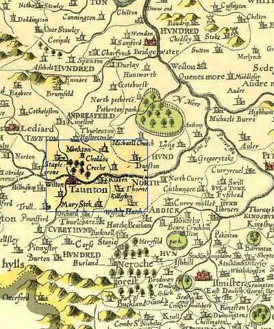 Ruishton map circa 1610